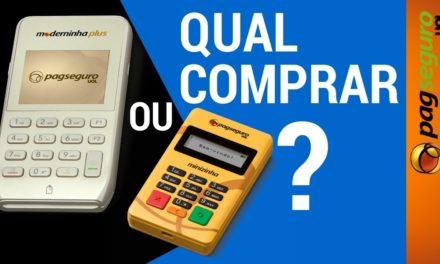 Qual Compar? MODERNINHA PLUS ou MINIZINHA CHIP   Maquininha PagSeguro #PAGDICAS