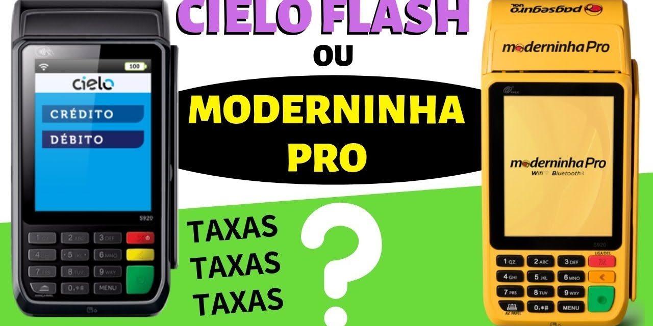 CIELO Flash ou Moderninha PRO – Qual COMPRAR ? #CIELO #PAGSEGURO